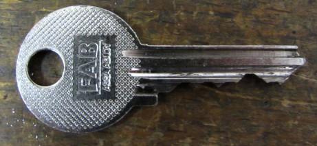 originální klíč FAB