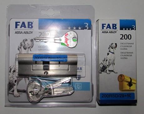 Vložky FAB RS najeden klíč