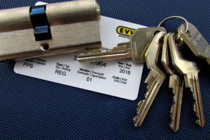 fotogafie vložky EVVA FPS ZP s kartou. Takto vypadá naše vložka v reálu....